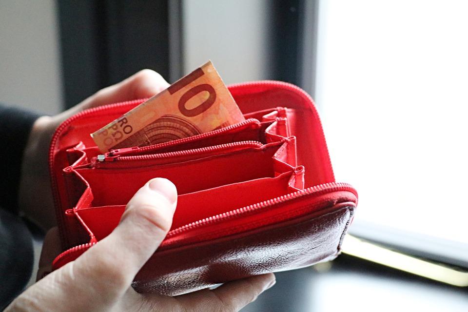 bankovka v peněžence