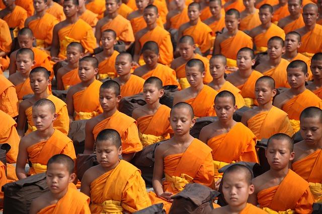 meditace mnichů