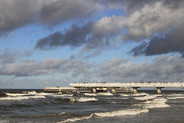 molo na baltské moře