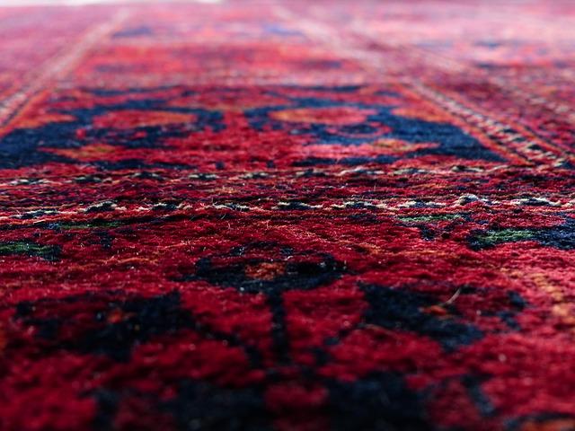 detailní pohled na koberec